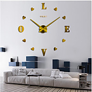 "Modern/Contemporary Country Casual Office/Business Others Romance Fashion Wall Clock,2"" Heart EVA Stainless steel Clock"