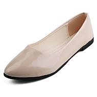 baratos Sapatos Femininos-Mulheres Sapatos Couro Ecológico Primavera / Verão Conforto Mocassins e Slip-Ons Sem Salto Dedo Apontado Café / Verde / Rosa claro