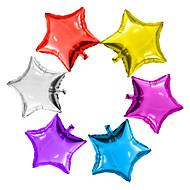 6pcs / lot 5inch tähti ilmapallo monivärinen 5 pieni söpö tähti folio ballon