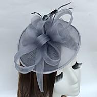 Pena Rede Fascinador Chapéus Capacete
