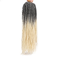 """צמות טוויסט צמות שיער צמות קרוקט 100% שיער קנקלון 100% ahgr קנקלון שחור / אובורן שחור / בורגונדי שחור / אדום שחור / סגול שחור / ירוק 18"""""""