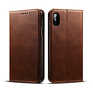 For iPhone X iPhone 8 iPhone 8 Plus Case Cover Wallet Card Holder with Stand Flip Full Body Case Solid Color Hard PU Leather for Apple