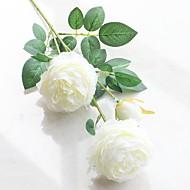 1 Peça 1 Ramo Poliéster Peônias Flor de Mesa Flores artificiais