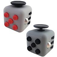 灰色のフィジェットのキューブの指の手のトップマジックスクイズパズルキューブの仕事のクラスホームedcアドヒード不安ストレスリリーバー1pcを追加します.
