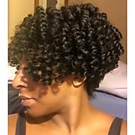 """צמות סרוגות טרום לולאה 1pc / Pack צמות שיער Saniya תלתל 20"""" 10"""" 100% שיער קנקלון סינטטי שחור שיער קלוע תוספות שיער"""
