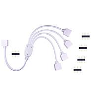 1 stk hkv® LED-lampebåndstik rgb farverig lampestik Controller 1 til 4 stikledning