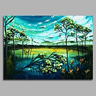 Hand-Painted Landscape Horizontal,Artistic Classic Style Nature Inspired Classic Classic & Timeless Birthday Modern/Contemporary