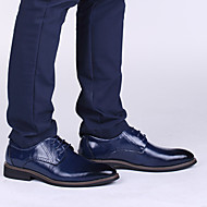 お買い得  紳士靴-男性用 靴 レザー 秋 / 冬 フォーマルシューズ オックスフォードシューズ ブラック / Brown / ブルー / パーティー