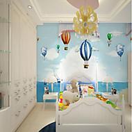 billige Tapet-3D Ballong Tegneserie Hjem Dekor Søtt Pastorale Stilen Moderne / Nutidig Tapetsering, Lerret Materiale selvklebende nødvendig Veggmaleri,