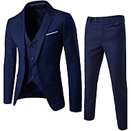 cheap -Men's Street chic Slim Suits - Solid Colored Notch Lapel
