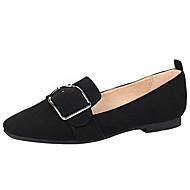 Feminino Sapatos Camurça Primavera Verão Conforto Bailarina Solados com Luzes Mocassins e Slip-Ons Rasteiro Salto Baixo Salto Grosso