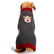 Chien Manteaux / Pull Vêtements pour Chien Renne Gris Fibres acryliques Costume Pour les animaux domestiques Homme / Femme Soirée / Vacances / Décontracté / Quotidien