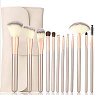 12pcs Profissional Pincéis de maquiagem Conjuntos de pincel Pêlo Sintético Batom / Sobrancelha / Delineador