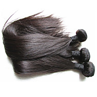 top grade brazilian virgin hair silk straight 3bundles 300g lot for one head best human hair material made natural black color hair texture