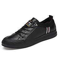 Homme Chaussures Vrai cuir Cuir Nappa Cuir Hiver Confort Chaussures de plongée Doublure fluff Basket Lacet Pour Décontracté Blanc Noir