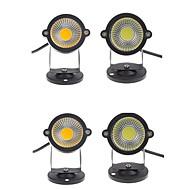 billige Spotlys med LED-4pcs 3w utendørs landskap ledet plen lys hage spot lys spike 12v energisparing 350lm varm / kul hvit ac85-265v / dc12v