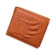Men Bags PU Coin Purse Ruffles for Shopping Casual All Seasons Black Dark Brown