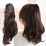 Synthetic Ponytail Natural Wave Clip In Ponytail Brown Color hair Extension