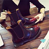 お買い得  紳士靴-男性用 靴 レザー 秋 / 冬 コンバットブーツ ブーツ ブラック / レッド