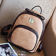 Women Bags PU Backpack Zipper for Casual Office & Career All Seasons Brown Black Gray Red Khaki