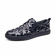 Men's Shoes Cowhide Spring Fall Comfort Sneakers For Casual Black