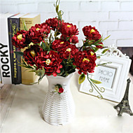 cheap Artificial Flowers-1 Branch Polyester Peonies Tabletop Flower Artificial Flowers