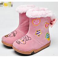Para Meninas sapatos Courino Outono Inverno Conforto Botas de Neve Botas Para Casual Rosa claro Amêndoa