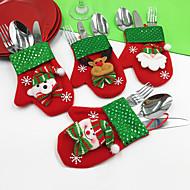 4pcs / set animalsインスピレーション的な雪だるまのサンタの雪片の言葉& 引用符ホリデークリスマスパーティーデコレーション