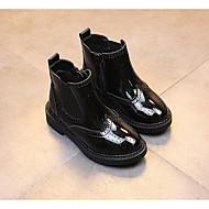 Para Meninos sapatos Couro Envernizado Outono Inverno Conforto Botas Para Casual Preto Roxo Verde