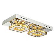billige Taklamper-Takplafond Nedlys - Krystall, 110-120V / 220-240V, Kald Hvit / Gul, LED lyskilde inkludert / 5-10㎡ / Integrert LED