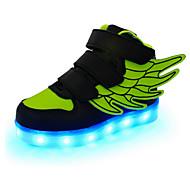 baratos Sapatos de Menino-Para Meninos Sapatos Couro Primavera / Outono Conforto / Inovador / Tênis com LED Tênis Velcro / LED para Vermelho / Verde / Azul