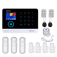 KONLEN® H36 Android WIFI GSM Burglar Alarm System RFID for Home House Smart Residential Safety Security Alarms Wireless 433mhz with Voice LCD