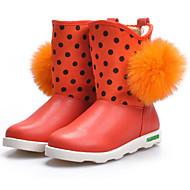 女の子 靴 本革 冬 スノーブーツ ブーツ 用途 カジュアル コーヒー レッド ピンク
