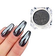 0,5 g / flaske svart speil effekt dekorasjon 3d nagel kunst glitter