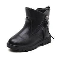 女の子 靴 レザーレット 秋 冬 コンフォートシューズ スノーブーツ ファッションブーツ ブーツ ジッパー タッセル 用途 カジュアル ブラック レッド