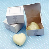 cheap Practical Favors-10Box/Set - Mini Heart White Soap Wedding Favor - 5 x 5 x 3 cm/box - Beter Gifts® Party Supplies