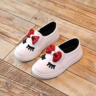 baratos Sapatos de Menina-Para Meninas Sapatos Couro Ecológico Outono Conforto Tênis para Branco / Fúcsia / Rosa claro