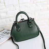 baratos Bolsas Tote-Mulheres Bolsas PU Tote Miçangas Cinzento / Verde Escuro / Roxo Claro
