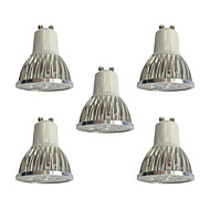 5pcs 4W GU10 LED Spotlight 4 leds High Power LED LED Lights Dimmable White 360lm 6000K 110-120V