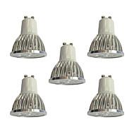 5pcs 4W GU10 LED-kohdevalaisimet 4 ledit Teho-LED Himmennettävissä LED Lights Valkoinen 360lm 6000K 110-120V
