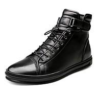 Miehet kengät Aitoa nahkaa Nappanahka Nahka Syksy Talvi Muotisaappaat Moottoripyöräsaappaat Nilkkuri Maiharit Bootsit Nilkkurit