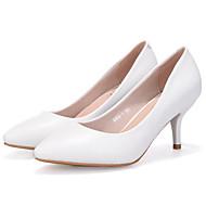 baratos Sapatos Femininos-Mulheres Couro / Couro Ecológico Primavera / Outono Plataforma Básica Saltos Salto Agulha Cinzento / Azul / Amêndoa