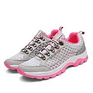preiswerte -Damen Schuhe Tüll / PU Herbst / Winter Komfort Sportschuhe Walking Runde Zehe Schnürsenkel Grau / Purpur / Rosa