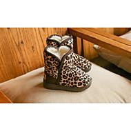 女の子 靴 スエード 冬 スノーブーツ ブーツ ブーティー/アンクルブーツ 用途 カジュアル ライトブラウン ダークブラウン