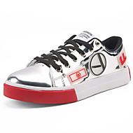 baratos Sapatos Masculinos-Homens sapatos Gliter Primavera / Outono Conforto Tênis Dourado / Preto / Prata