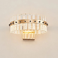 tanie Kinkiety Ścienne-Kryształ Prosty Modern / Contemporary Lampy ścienne Na Metal Światło ścienne 110-120V 220-240V 10W