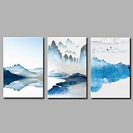 cheap Prints-Stretched Canvas Print Classic Rustic, Three Panels Canvas Horizontal Panoramic Print Wall Decor Home Decoration