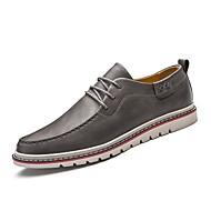 tanie Obuwie męskie-Męskie Buty Skóra Zima Jesień Comfort Tenisówki Szurowane na Casual Work & Safety Black Gray Brown