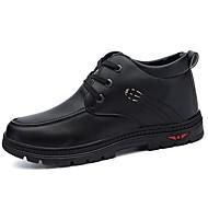 Erkek Ayakkabı Nappa Leather Sonbahar Rahat Çizmeler Bağcıklı Uyumluluk Siyah Kahverengi