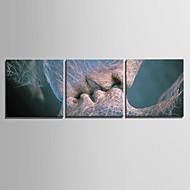 billiga Väggkonst-Abstrakt Moderna, Tre paneler Duk Fyrkantig Tryck väggdekor Hem-dekoration